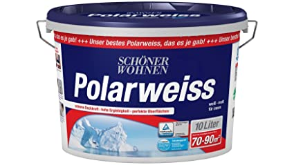 Schöner Wohnen Farbe Innenfarbe Polarweiß 10l Scheuerbeständig 10 L