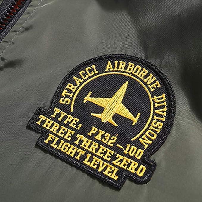 TOALOL Giacca Militare Bomber con Toppe Uomo Softshell