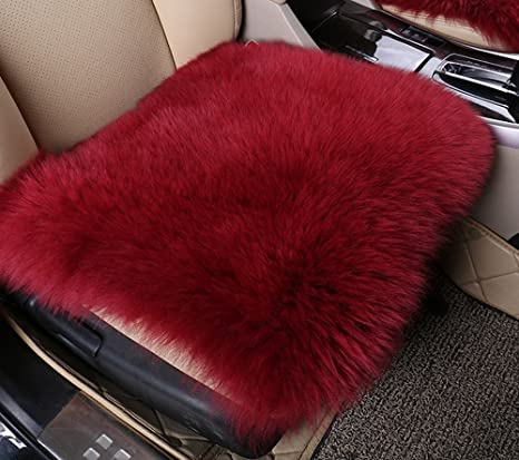 Amazon.com: dotesy lana cojines de asiento de coche, suave ...