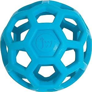 JW Hol-ee Roller Original Treat Dispensing Dog Ball - Hard Natural Rubber - Assorted Colors, Jumbo