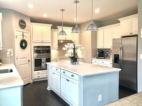 Kira Home Bennett 9.5 Modern Industrial Hanging Pendant Ceiling Light, Adjustable Height, LED Compatible, Brushed Nickel Finish