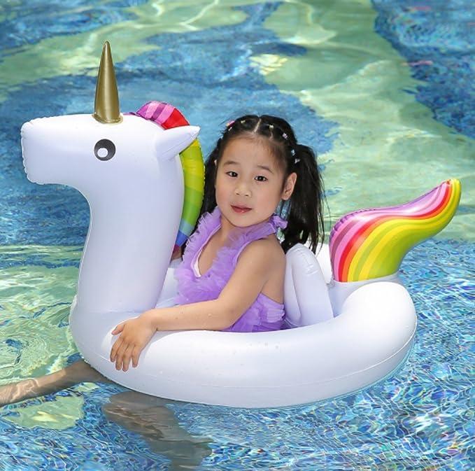 Lifreer Unicornio Flotador para bebé Barco Inflable Flotador Piscinas Juguetes para de Natación en para Niños: Amazon.es: Juguetes y juegos