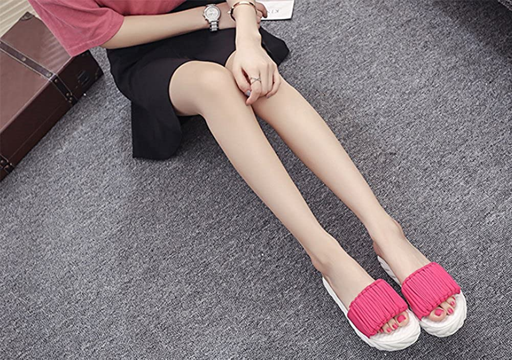 Lady Summer Thick-Soled Slippers,Canvas Flat Bottom Non-Slip Lined Slippers