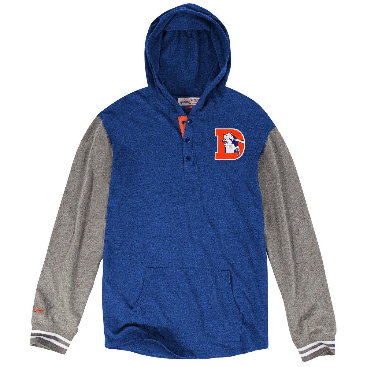 Denver Broncos Mitchell & Ness NFL mid-season」長袖フード付きメンズシャツ XXX-Large  B01II7KTBG