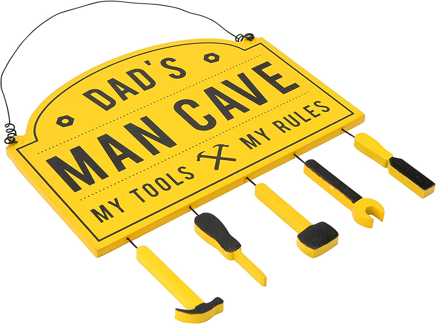 GB02853 Dads Man Cave Yellow Sign