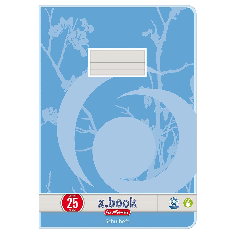 Herlitz 3352507 - Quaderno formato A4, rigatura con margini C, ecologico, confezione da 10 pezzi, con stampa, colori assortiti Pelikan
