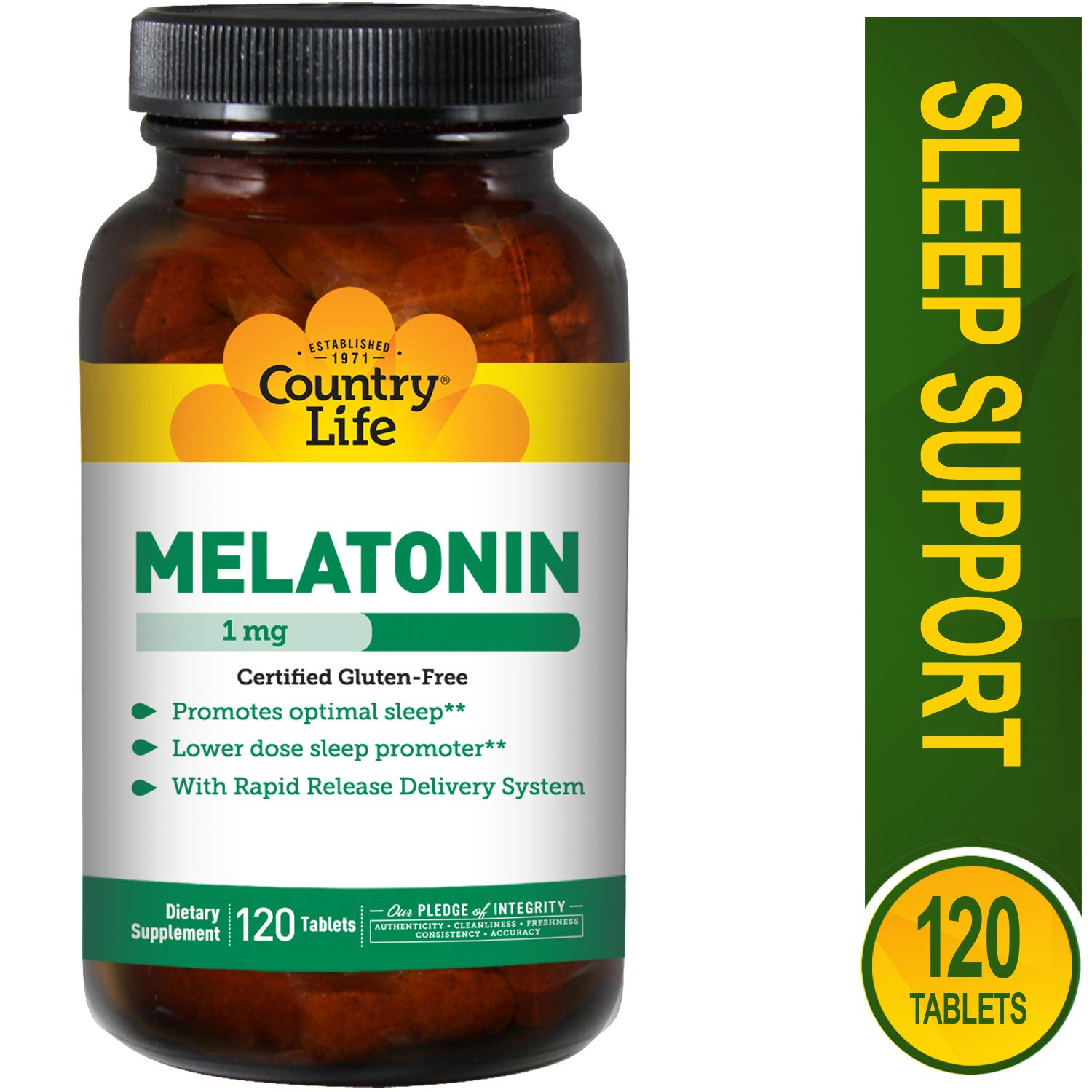 Amazon.com: Country Life Melatonin 1 mg, 120 Tablets: Health & Personal Care
