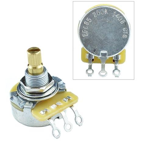 CTS - Potenciómetro lineal para volumen y tono de guitarra, eje dividido,