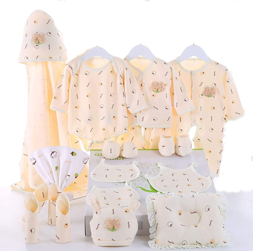fa9dec04006bc Newborn 21 Pieces for Baby Gift Set Unisex Outfits All Essentials Mix and  Match 100%
