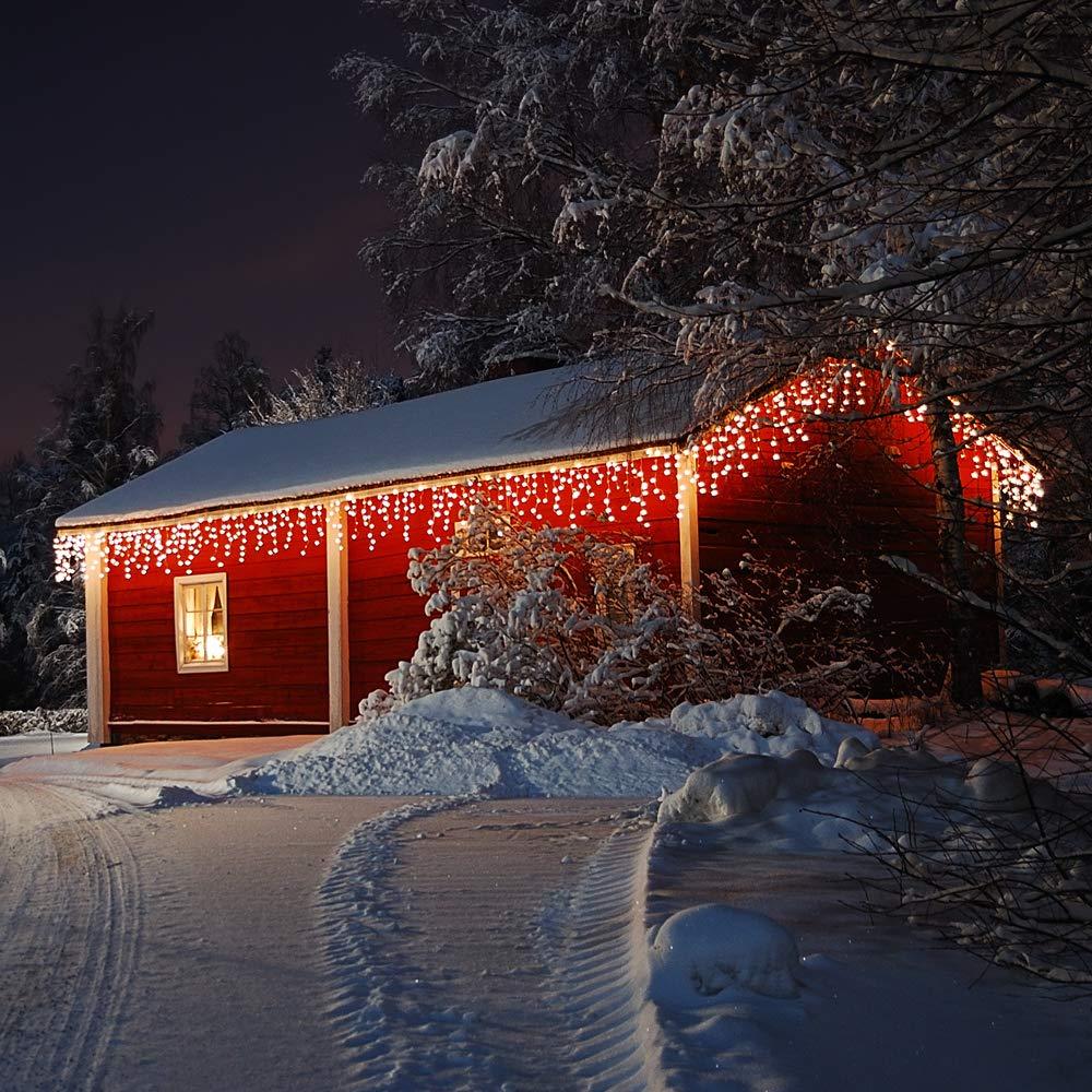 In- /& Outdoor Modellauswahl Deuba LED Regenkette 200 LEDs warmwei/ß Weihnachten Deko Beleuchtung Schutzklasse IP44