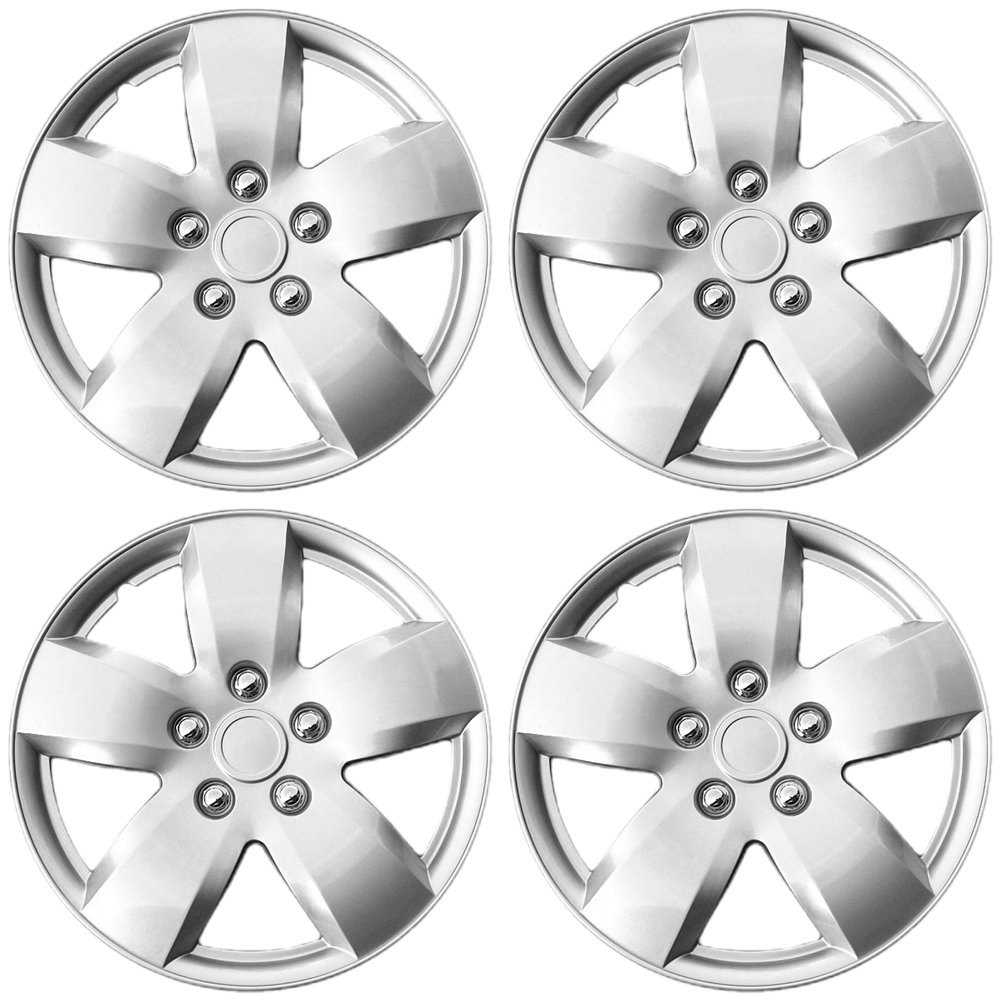 OxGord Hub-Caps for Select Nissan Altima (Pack of 4) 16 Inch Silver Wheel Covers