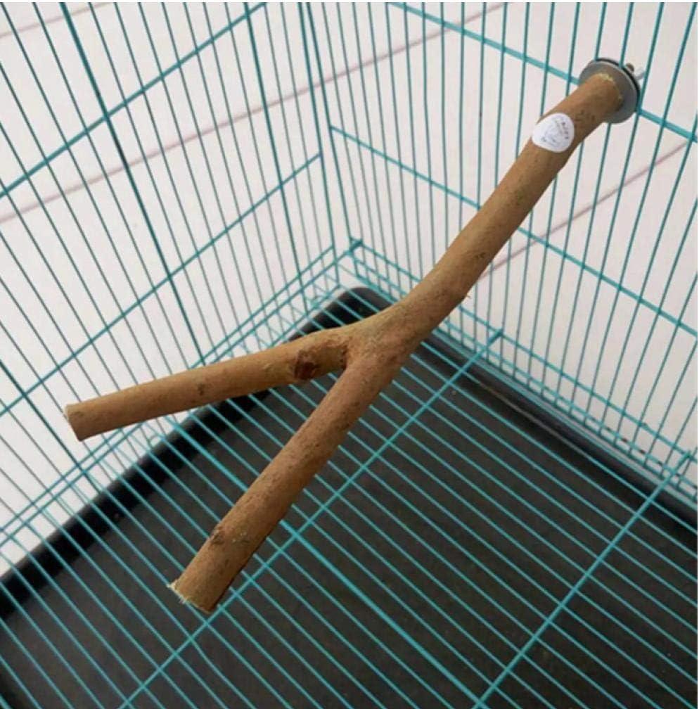 1pc 28cm Mascotas Loro primas de Madera Tenedor Rama de árbol del Estante del Soporte de Juguete Hamster Branch Percha para la Jaula de pájaro