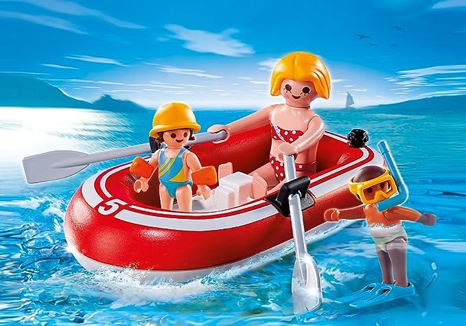 PLAYMOBIL Vacaciones - Nadadores con balsa, Playsets de Figuras de ...