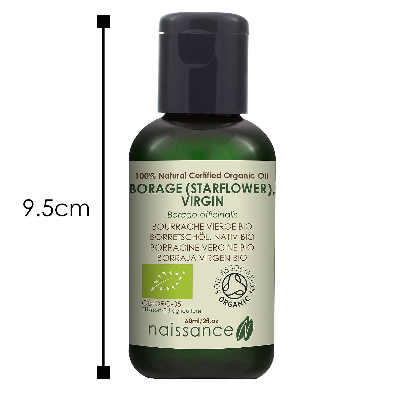 Naissance Borraja Virgen BIO - Aceite Vegetal Prensado en Frío 100% Puro - Certificado Ecológico - 60ml: Amazon.es: Belleza