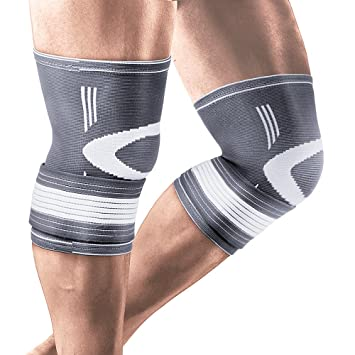 7876852da0b Liveup SPORTS Compression Knee Brace Support with Unibody Wraps Great for  Knee Injuries Arthritic