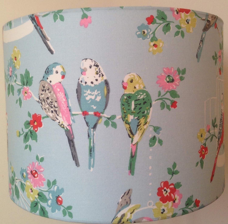 Handmade Lampshade using Cath Kidston Blue Budgies
