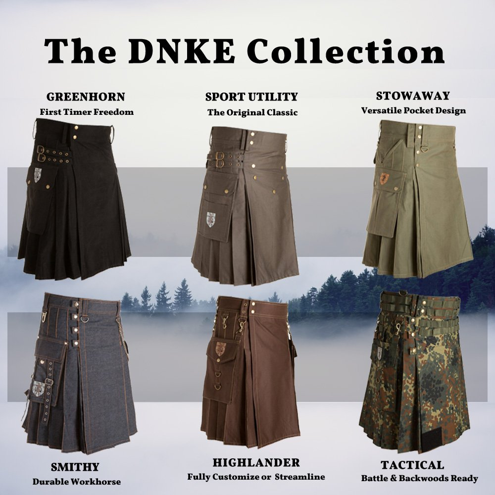 Damn Near Kilt 'Em Men's Tactical Kilt X-Small Military Green by Damn Near Kilt 'Em (Image #8)