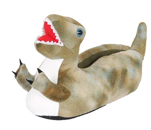 9b4d2fab7ab Lora Dora Kids 3D Novelty Dinosaur Slippers Fleece Booties Dino Xmas Gift  Boys Girls Size UK 9-3  Amazon.co.uk  Shoes   Bags