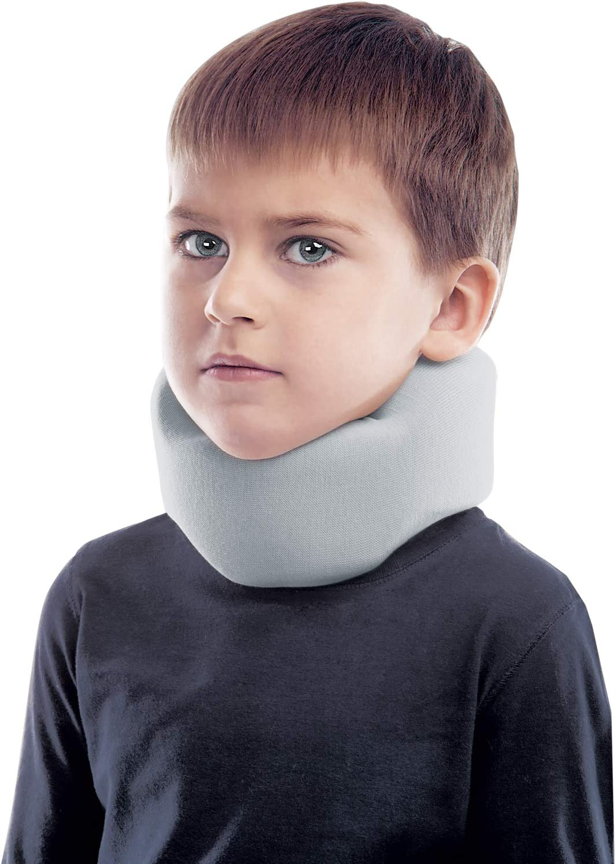 Collarín cervical ergonómico; soporte para el cuello; 100% algodón X-Small Gris