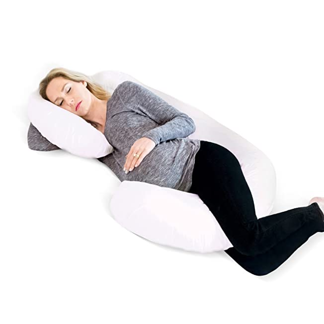 Restorology Full 60-Inch Body Pregnancy Pillow - Maternity and Nursing Support Cushion