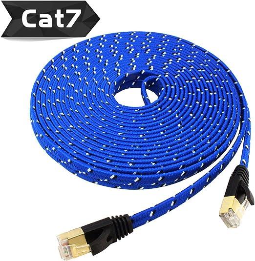 40FT-100/'FT Cat7 Network Ethernet 26AWG SSTP Molded Patch Cable 600MHz RJ45 V2