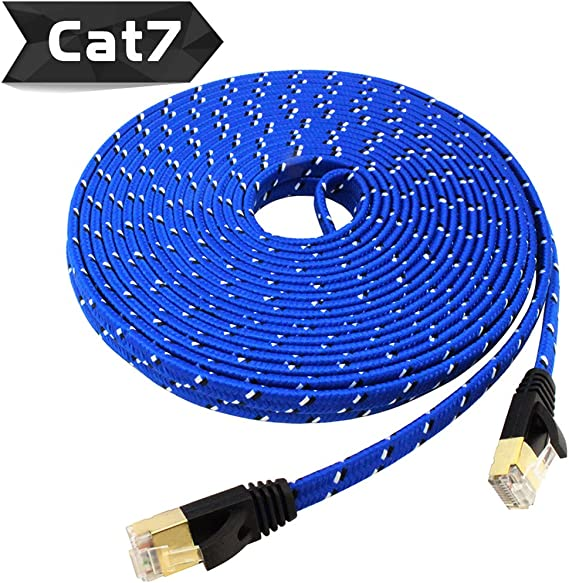 2M Cat 7 Ethernet Shielded Modem //LAN //Mac STP 10GB Fastest Lan Network Cable