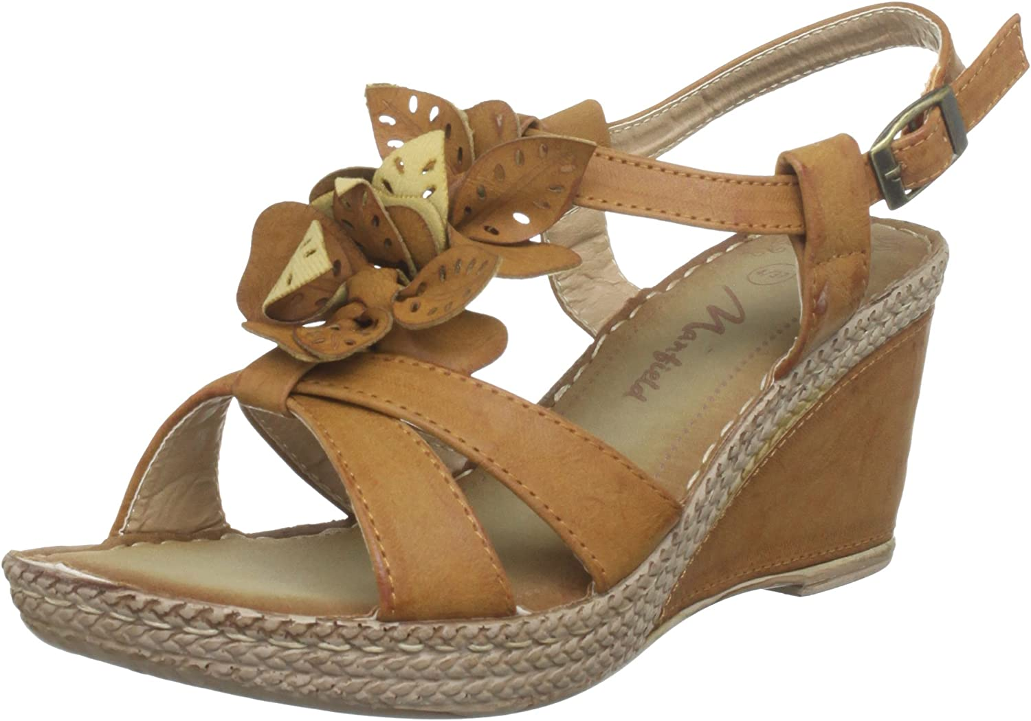 Manfield Indiana, Sandales Femme Marron Brun, 35 (3 UK
