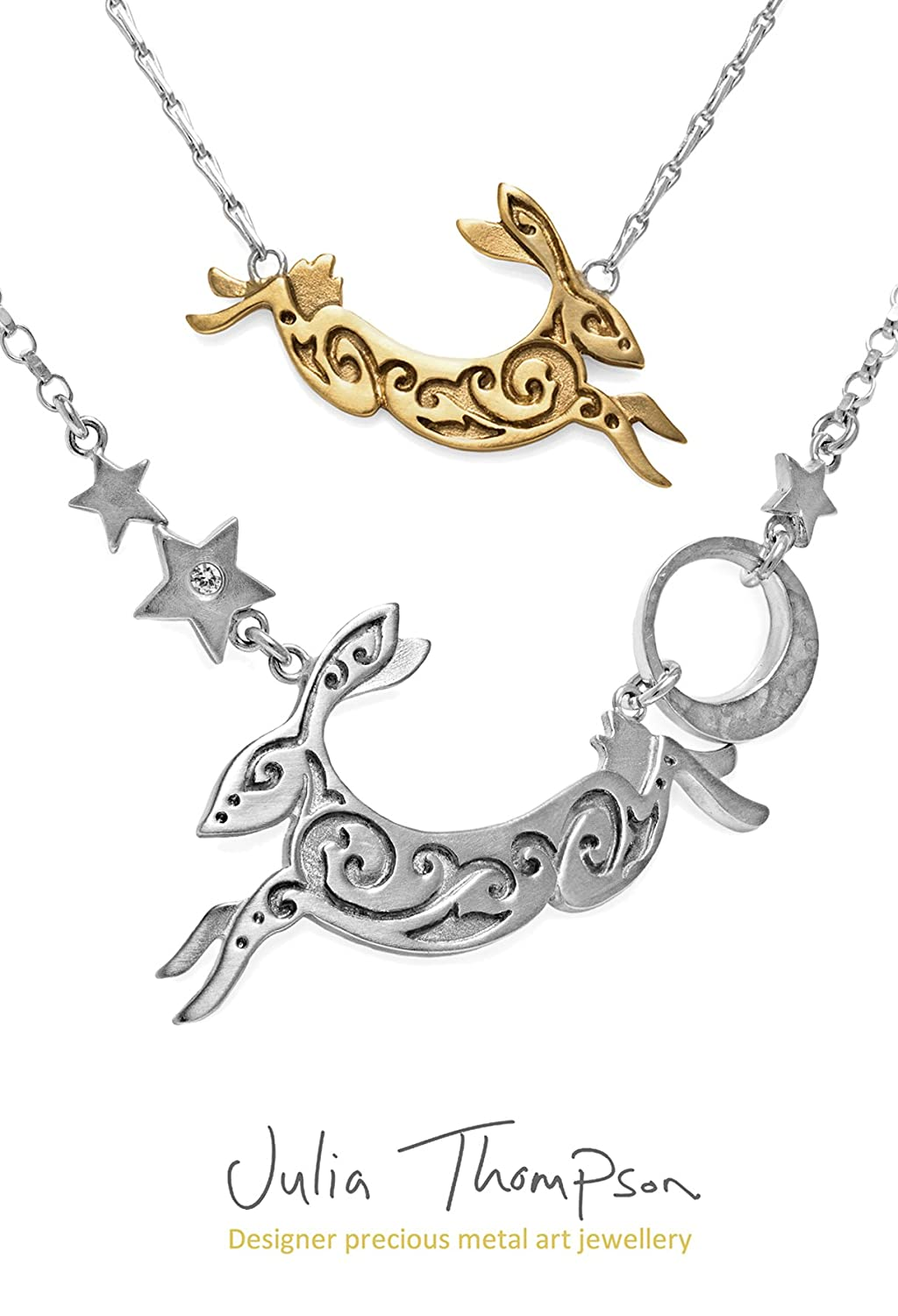 Small Silver Hare Necklace