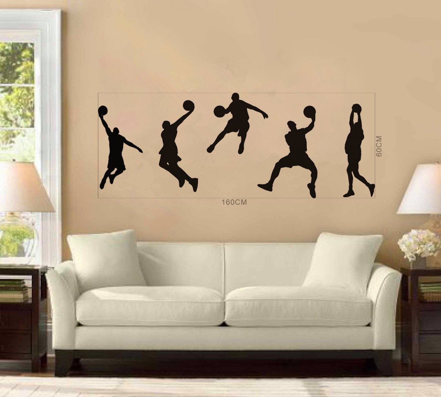 Amazon olivia diy basketball players boys kids nba games amazon olivia diy basketball players boys kids nba games black vinyl removable wall stickers home decals sport silhouette graphic pattern quote art amipublicfo Image collections