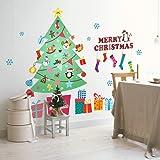ZooArts ウォールステッカー クリスマス 綺麗なクリスマスツリー 可愛いサンタクロース 綺麗な雪花 クリスマスプレゼント クリスマスデコレーション 子供部屋 店舗用 カラフル シール ウォールペーパー 環境保護 おしゃれ はがせる インテリア雑貨 賃貸OK