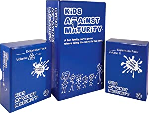 Kids Against Maturity: Card Game for Kids and Humanity, Super Fun Hilarious for Family Party Game Night, Combo Pack with Expansion #1 and #2