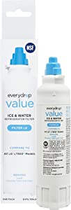 everydrop EVFILTERL8 replacement for LG LT800P Refrigerator Water Filter, 1 Pack