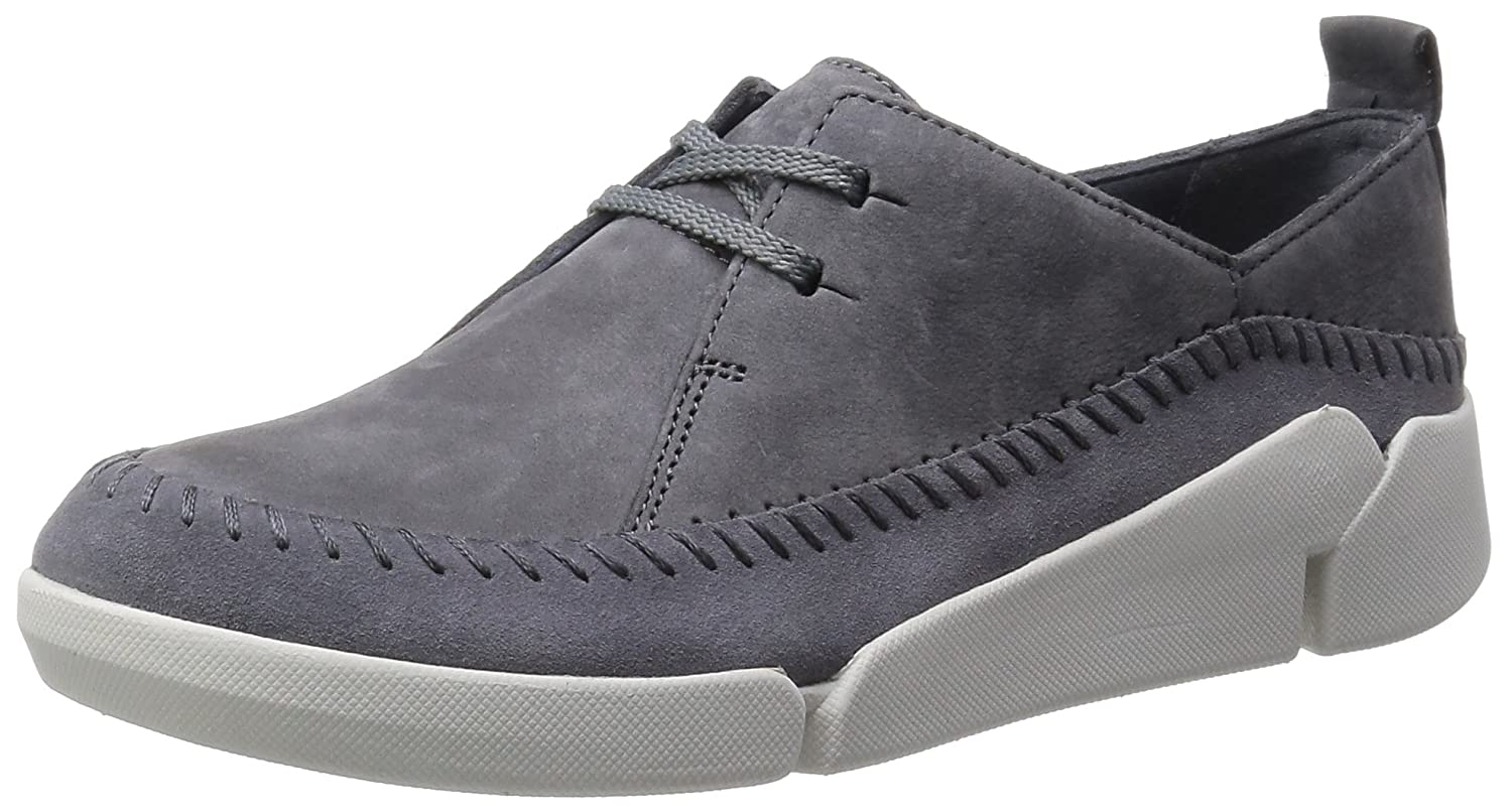 Clarks Tri Angel, Scarpe Stringate Derby Donna Grigio Grey/Blue)