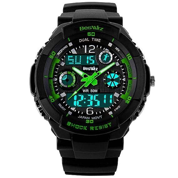 Reloj Digital para niños Deportivo al Aire Libre con Alarma, cronómetro de Hora Dual,
