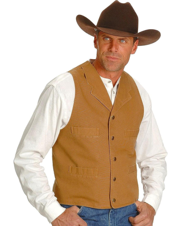 Scully Rangewear Mens Rangewear Frontier Canvas Vest RangeWear by Scully 075205