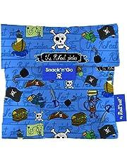 Roll'eat Snack'n'Go-KIDS Piratas azul - Porta Snacks reutilizable - porta meriendas - bolsa merienda- BPA Free