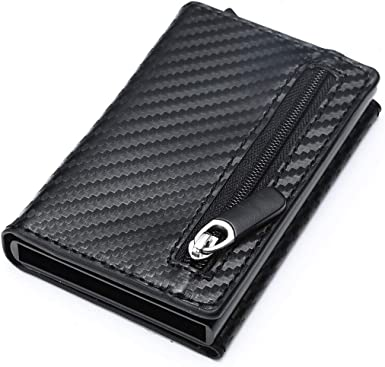 KHGUDS Genuine Leather Men Wallets Card Holder Rfid Mini Smart Wallet Small Purse Money Bag Thin Slim Wallet
