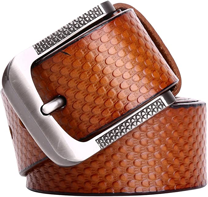 Leathario Hombres Cintur/ón de Cuero Correa Cinturones de Piel Dise/ñado para caballero