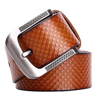 Leathario ceinture en cuir homme ceintures cuir pour hommes ceintures de boucles  fixation de aiguille fd86908ed82