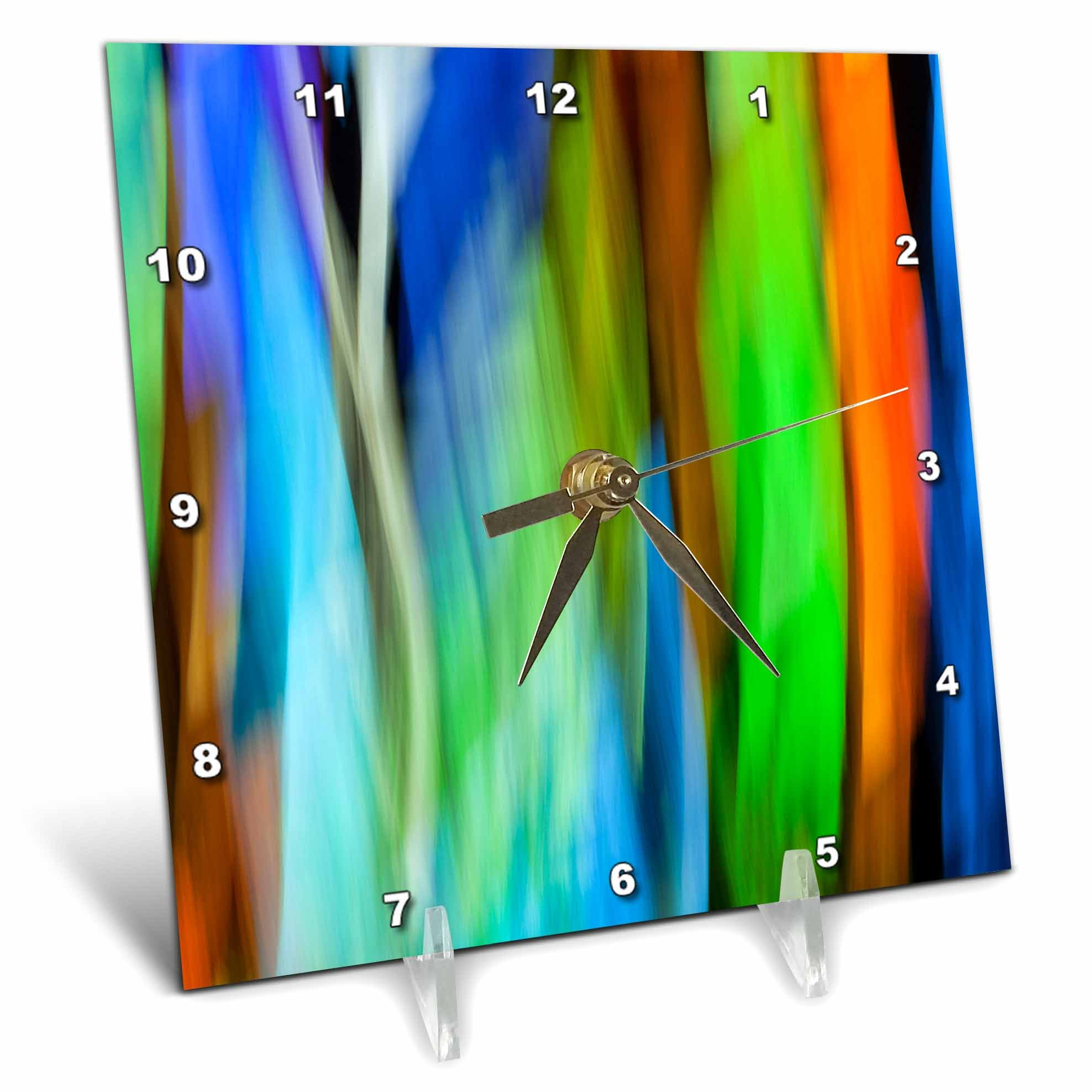 3dRose Danita Delimont - Abstracts - A motion blur of a stain glass window. - 6x6 Desk Clock (dc_276400_1)