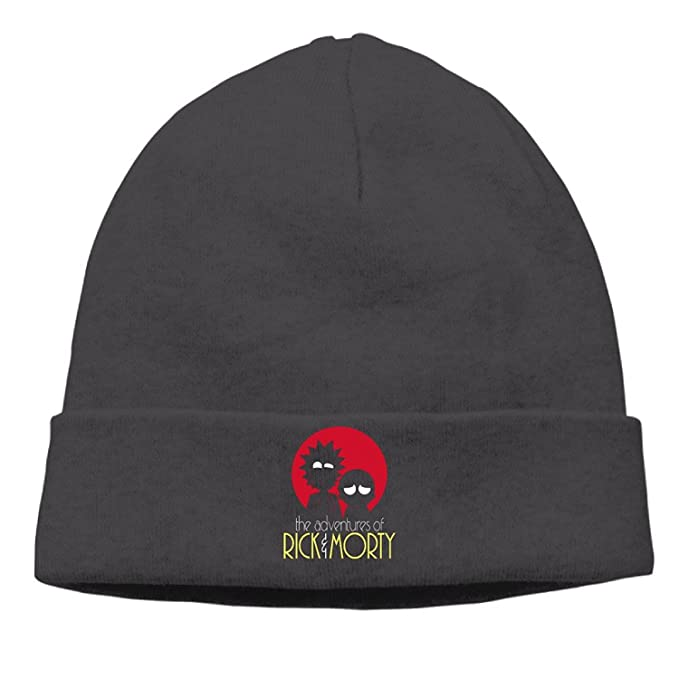 d5bc2432a01 TTMMDGHB Animated Rick and Morty Sketch Outdoor Beanies Hat Winter Caps  Black