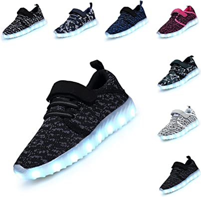 DEDU LED Light up Shoes for Kids Boys Girls Flashing Sneakers