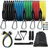11pack Bandas de Resistencia, Bandas Elasticas, Bandas de resistencia para ejercicio, bandas de resistencia de fitness…