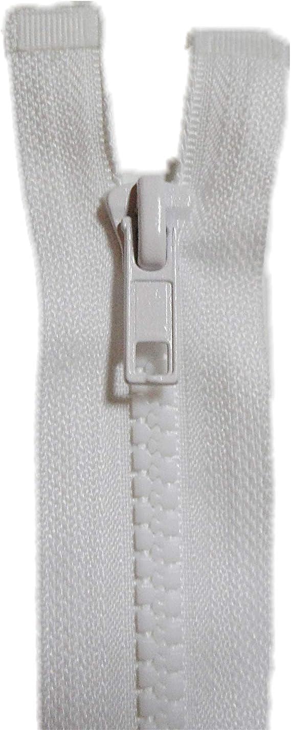 FILOUFACE Separable Cazadora Malla 5 mm 50 cm Ancho 3 cm Cierre de Cremallera de Color Blanco