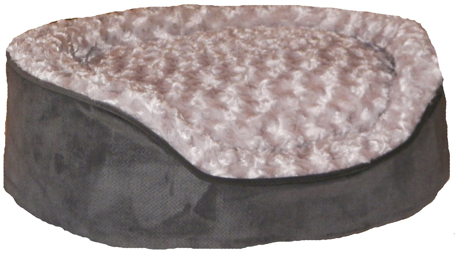 Pampered Pets Oval Bed, X-Large, Graphite Gray