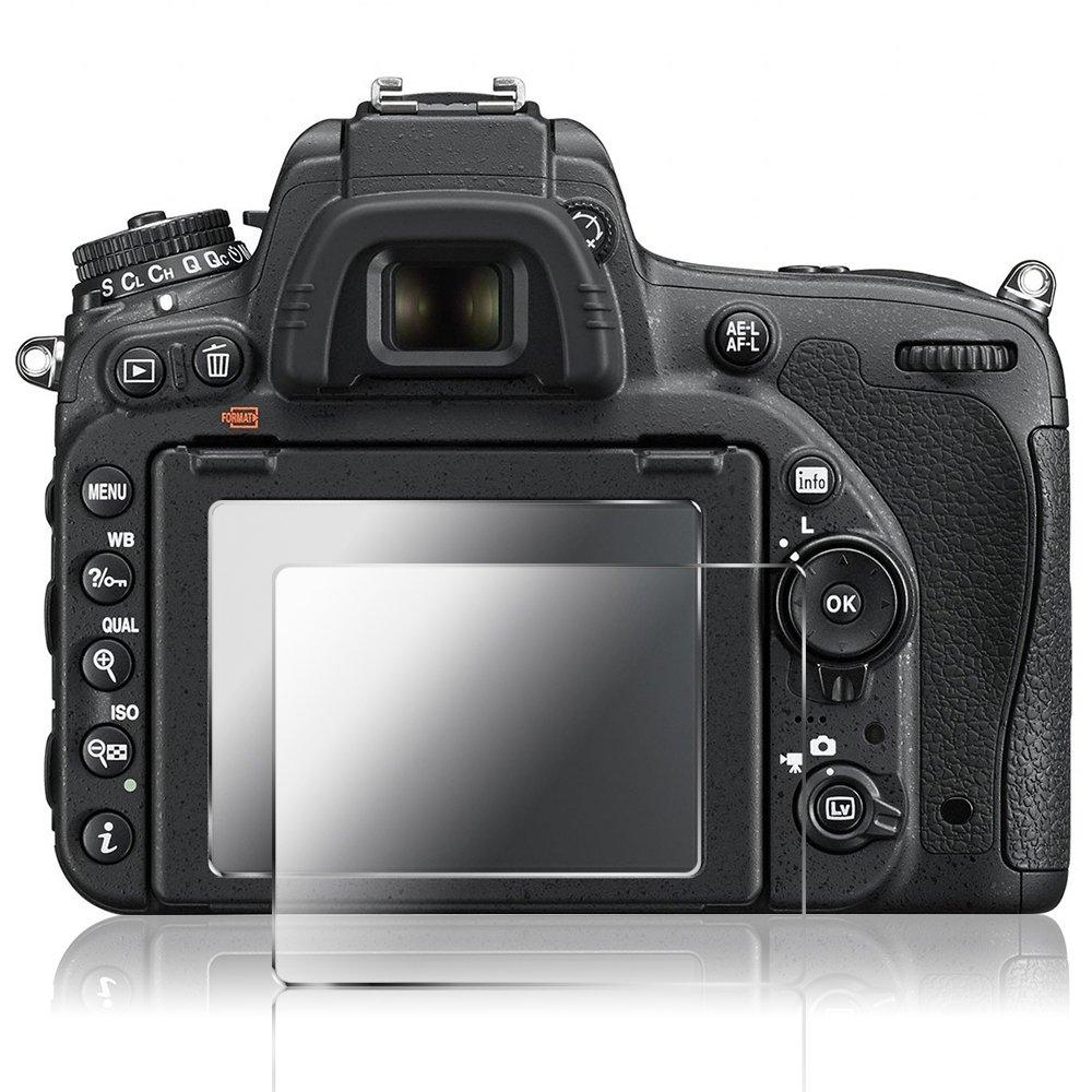 AFUNTA Protector de Pantalla para Nikon D500, 2 Paquete la Cámara del Protector de Vidrio