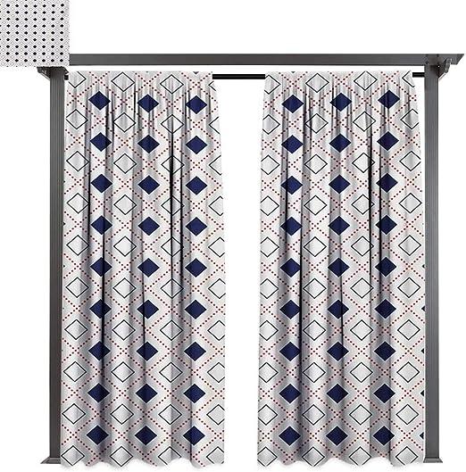 bybyhome - Cortinas de Porche con diseño geométrico Moderno con ...