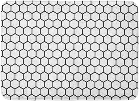 Doormat Honeycomb Black with cm.41x71 edge