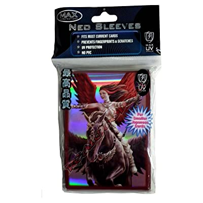 YuGiOh MAX Protection 50 Count Gaming Card Sleeves Enchantress Neo: Toys & Games