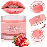 Lip Sleeping Mask, with Lip Scrubs Exfoliator & Moisturizer, Double Effect Lip Mask Overnight for Dry, Lip Masks Treatment Ca